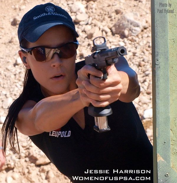 Pro Competition Shooter Jessie Abbate Shoots From Behind
