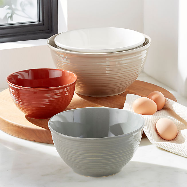 Thanksgiving Baking And Pie Making Tools Crate And Barrel Kitchen Bowls Ceramic Mixing Bowls Crate And Barrel