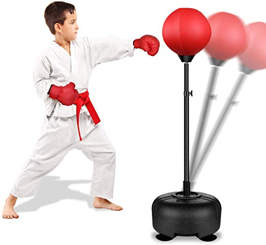 Adjustable Stand Boxing Gloves for Boys and Gi Kids Boxing Set Punching Ball