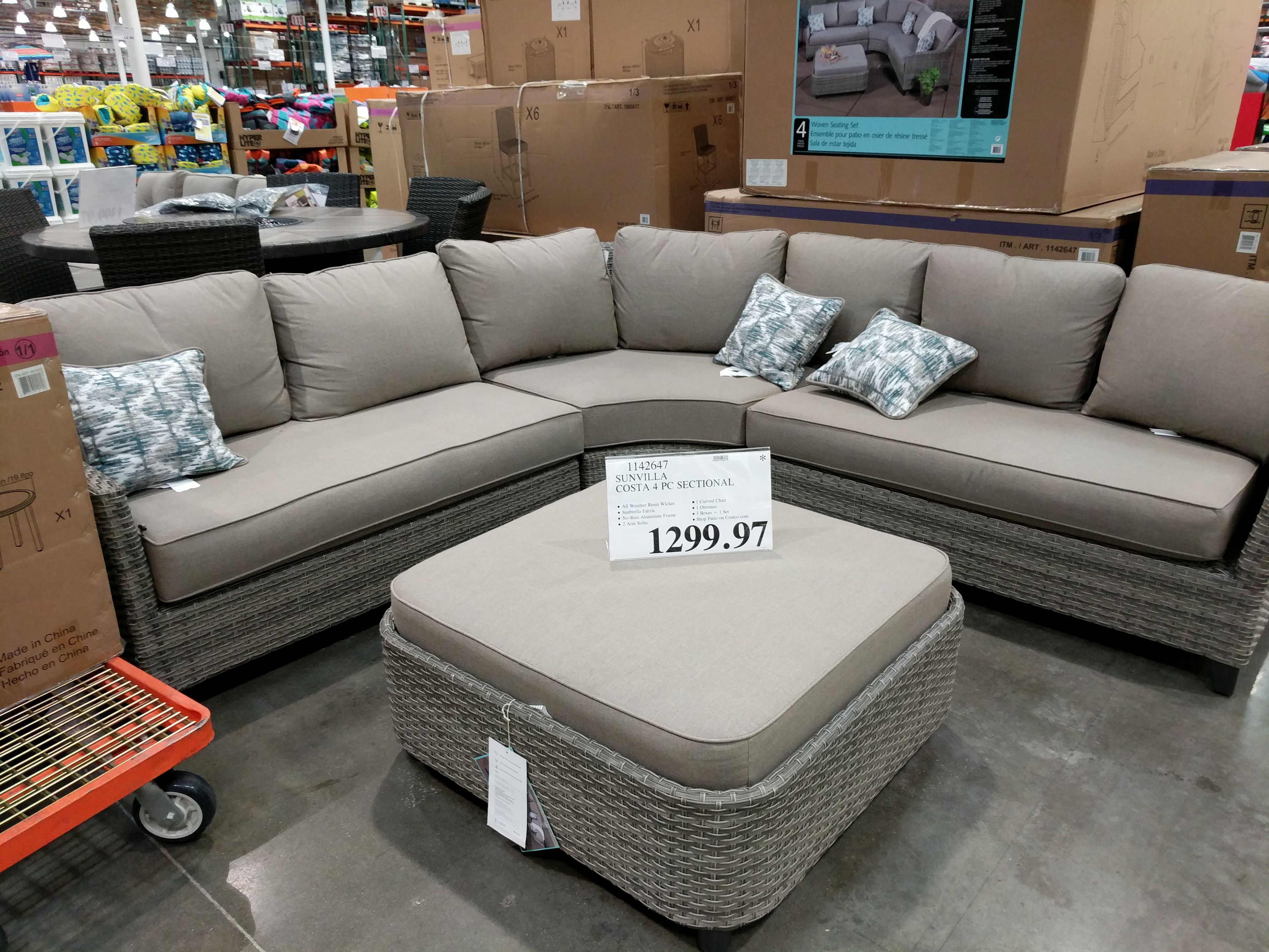 Sunvilla Costa 4 Piece Sectional 1299 97 Costco Clearance