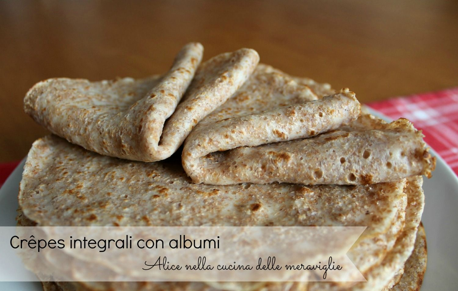 Crêpes integrali con albumi, ricetta light