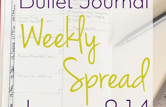 How the Bullet Journal is helping keep this busy mom on track and organized. My weekly spread for January 8-14, 2017 | iheartmomlife.com