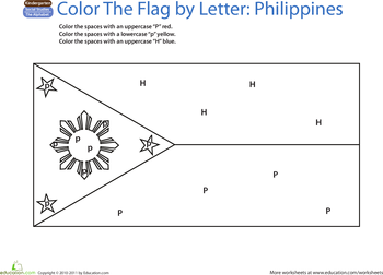 Countries of the world flag coloring pages coloring page for Philippines flag coloring page