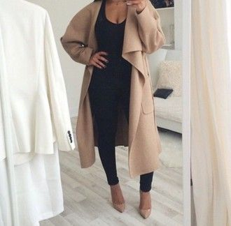 d218d24743be Waterfall coat/ duster trenchcoat | GEAR/pieces | Heels outfits ...