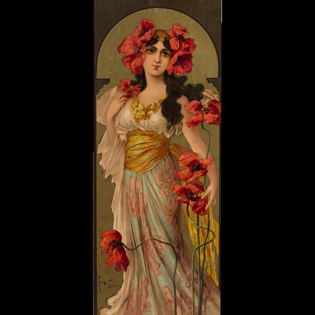 Art Nouveau Inspired California Poppy By Mason Larose: Country Of Origin: France Style: French Art Nouveau Maker
