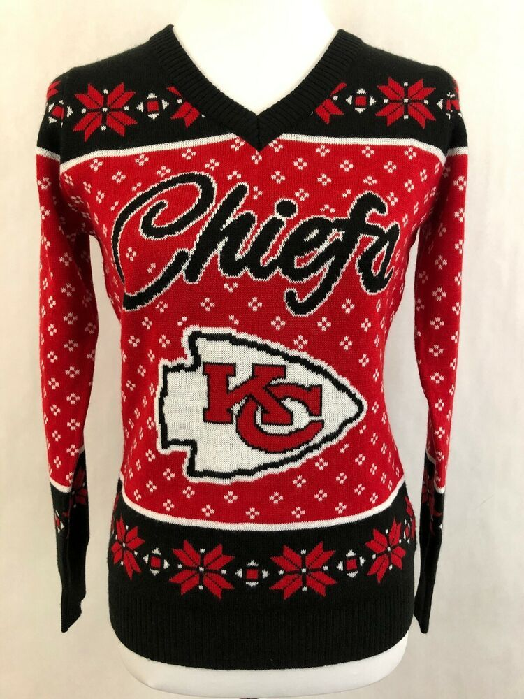 best cheap e2971 708f6 Kansas City Chiefs Womens Ugly Christmas Sweater S Pullover ...