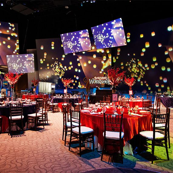 From The Walls To Tablescapes Everything About This Disney Animation Building Wedding Reception Was
