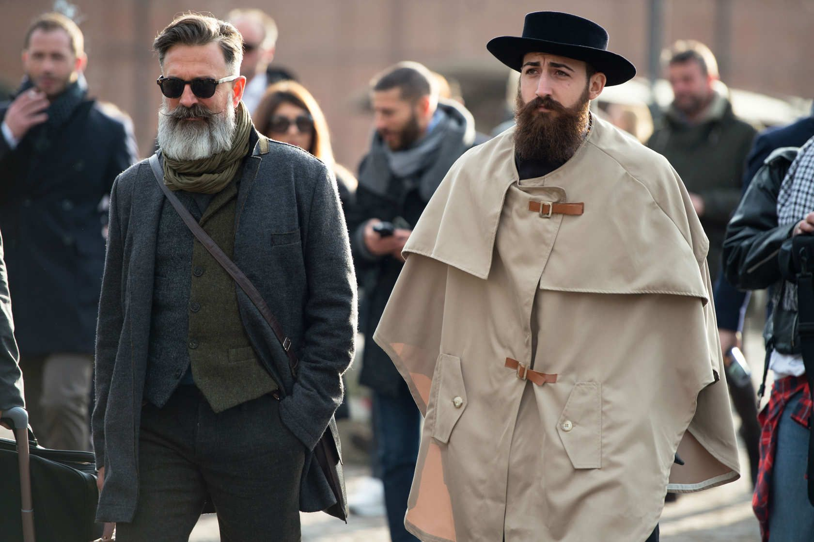 Best Menswear, at Pitti Uomo, tweed wool vest and jackets, Rumspringa guy