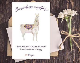 Downloadable DIGITAL DOWNLOAD Pun Funny Bridesmaid Proposal Card Mermaid Bridesmaid Card Wedding Party Cards Printable Bridesmaid Card