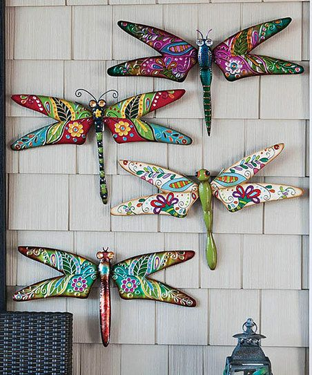 Boho Dragonfly Wall Art Set