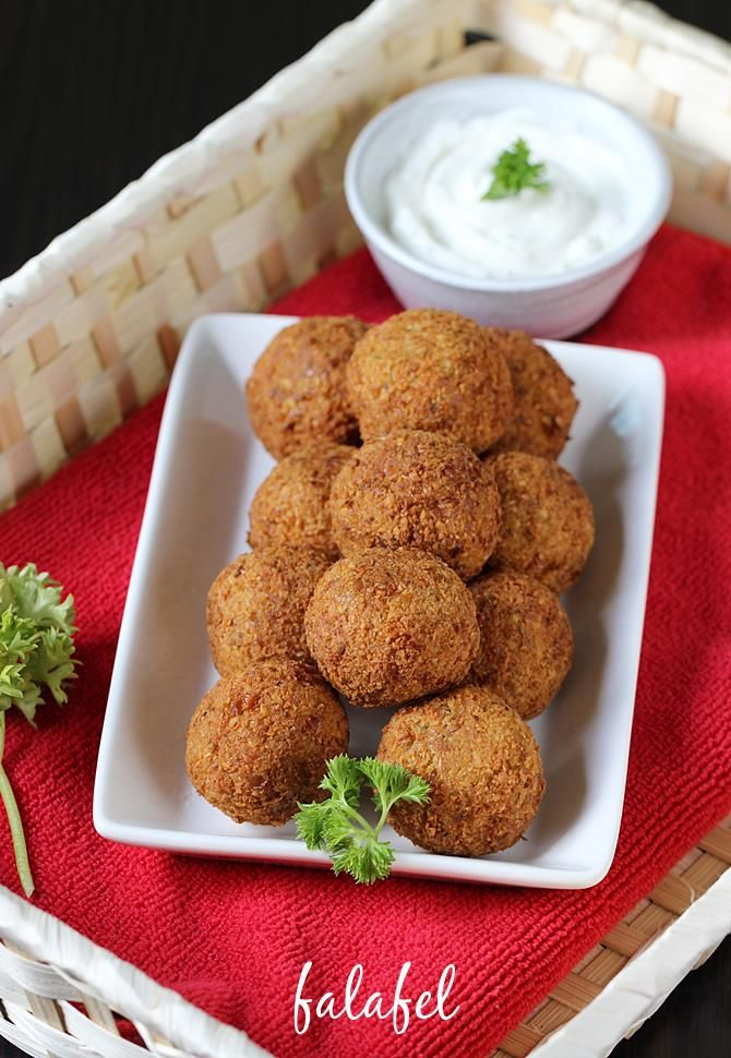 Falafel recipe - Deep fried snack from the middle eastern cuisine. Learn how to make falafel using chickpeas with step by step photos