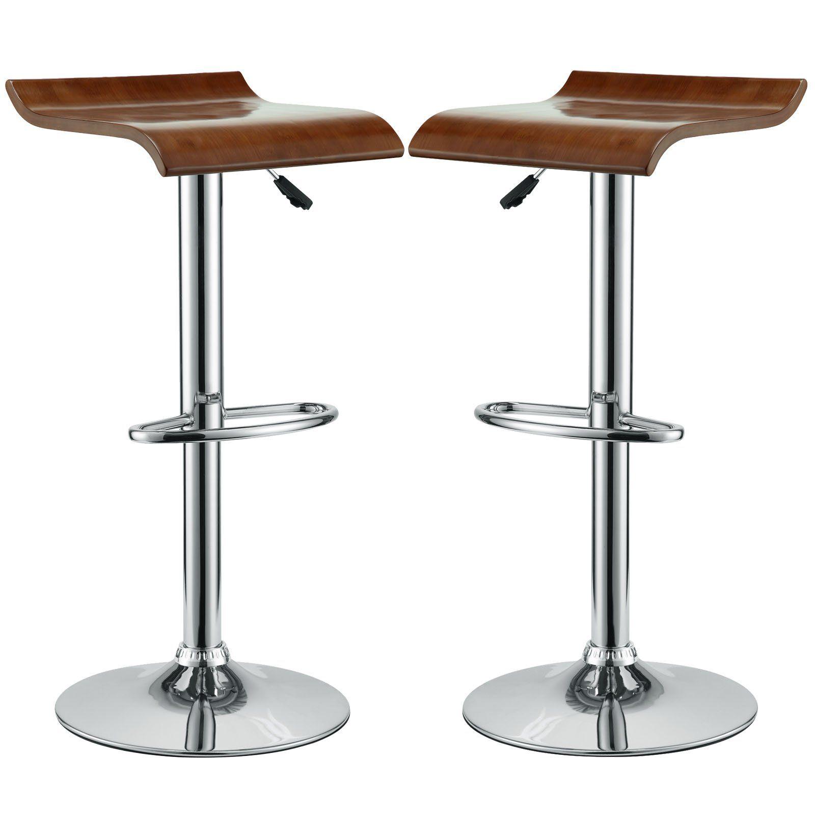 Modern Bentwood Counter Bar Stools Set Of 2 Counter Height Dining Chair In 2021 Modern Bar Stools Retro Bar Stools Bar Stools