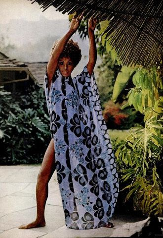 Diahann Carroll in the January 1971 issue of Ebony modeling swimwear fashions. Vintage Black Glamour.  Love her!