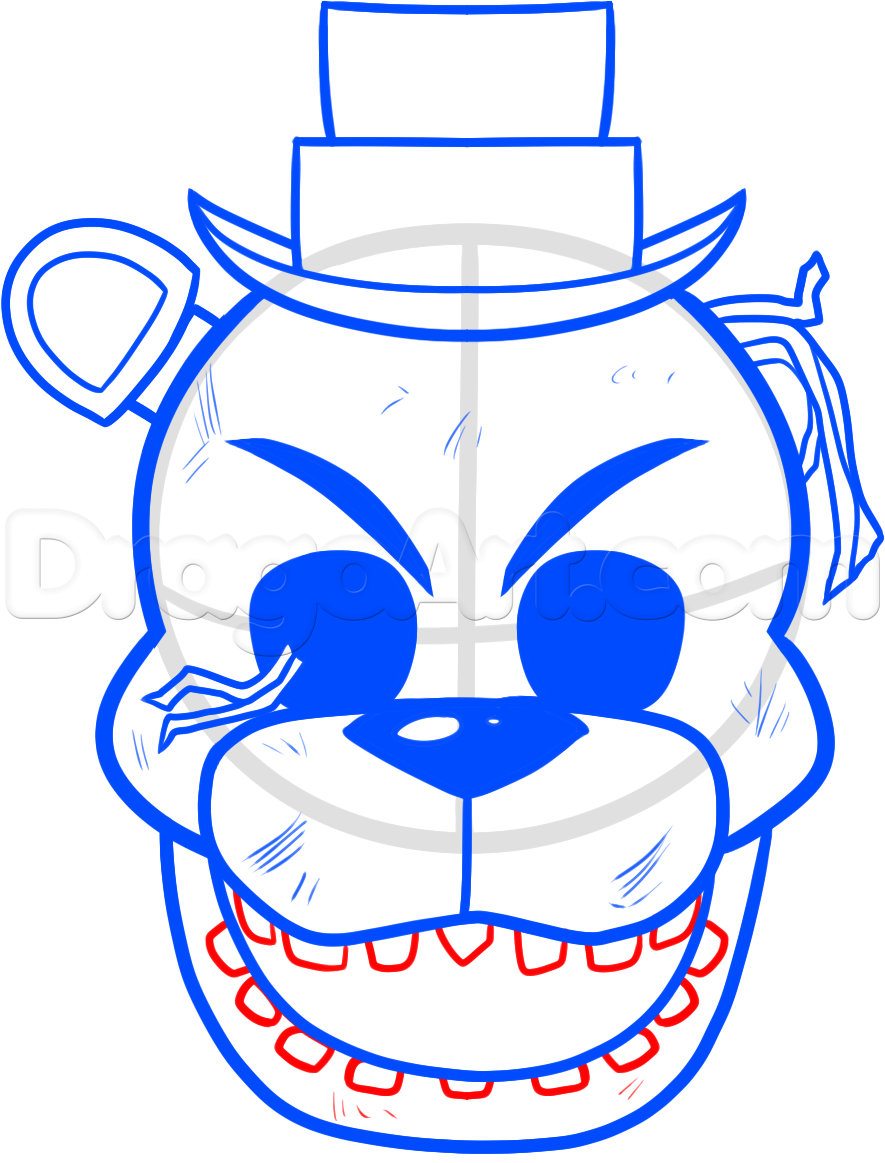 How To Draw Golden Freddy Step By Step Video Game Characters Pop Culture Free Online Drawing Tutorial Ad Freddy Five Nights At Freddy S Fnaf Golden Freddy