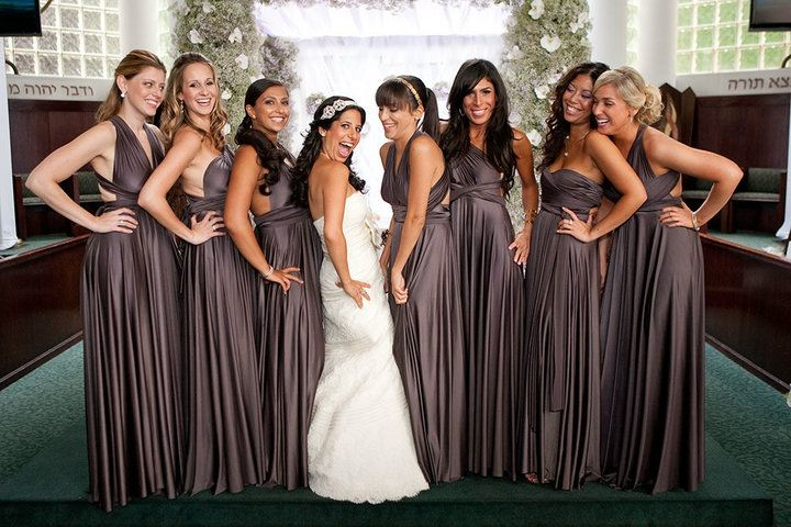 Slate Ballgowns Twobirds Bridesmaid Dress A Real Wedding Featuring Our Multiway Convertible Dresses