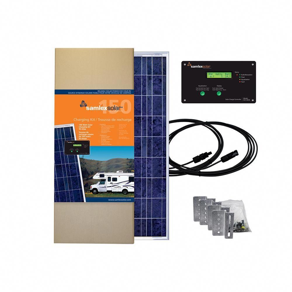 Samlex Solar Charging Kit 150w 30a Solarpanelkits Solar Charging Off Grid Solar Panels Solar Charger