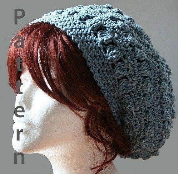 Bobbles Slouch Hat Crochet Pattern Pdf File Slouch Hats Hat