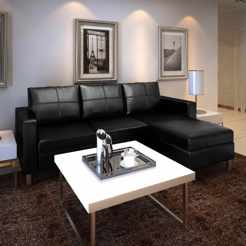 modern stylish furniture. Black Leather Couch Sofa L Corner Faux Modern Stylish Home Furniture Living  Room Modern Stylish Furniture