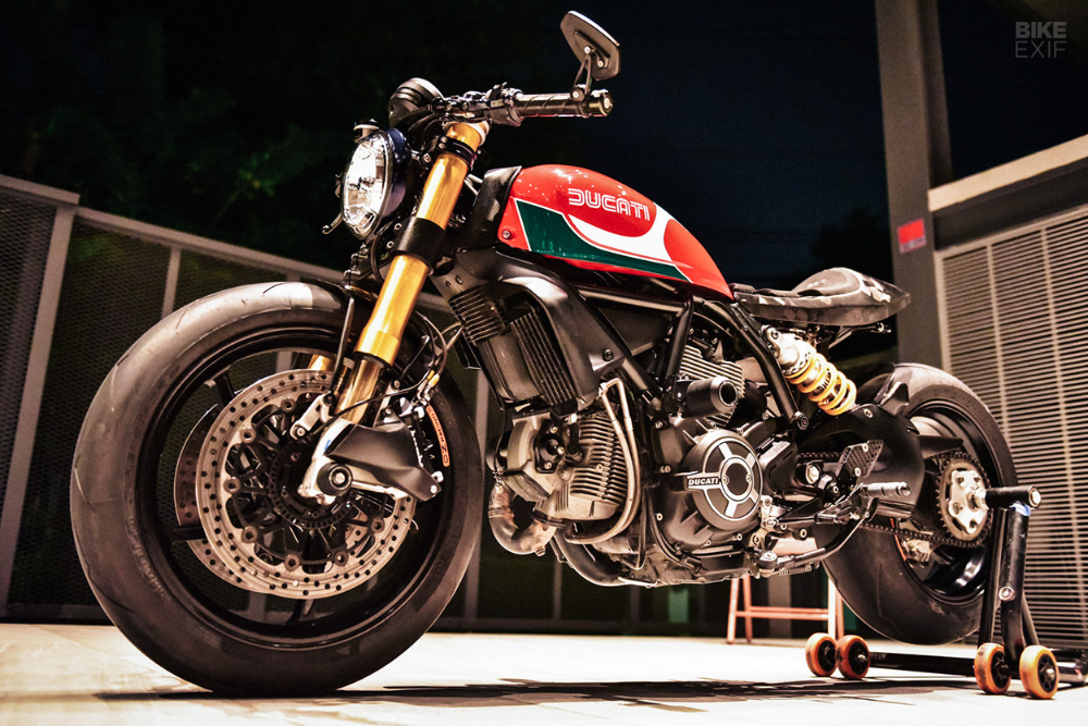 A Scrambler Ducati Upgraded By A Pro Moto Designer With Images