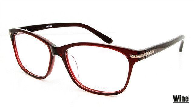 e952e35195 Luxury Brand Designer Women Glasses Frames Fashion Clear Lens Spectacle  Frame Diamond Eye Glasses Frames for Women Rx Eyewear