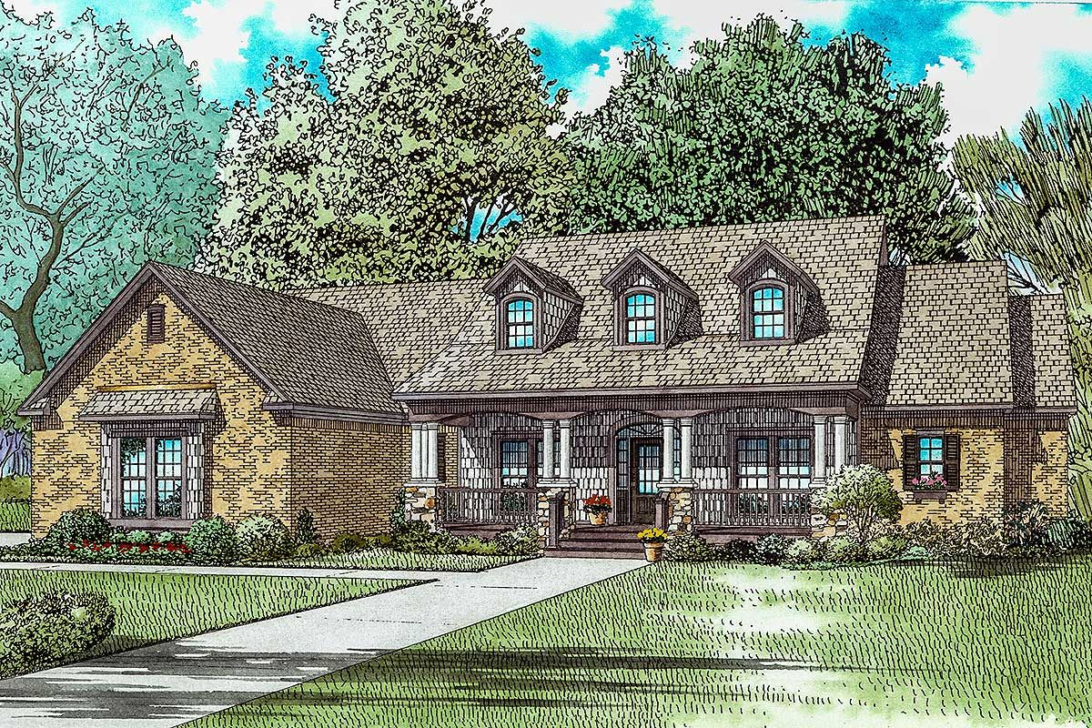 Plan 60703nd Country Classic With Two Bonus Rooms Upstairs Craftsman Style House Plans Unique House Plans Southern House Plans
