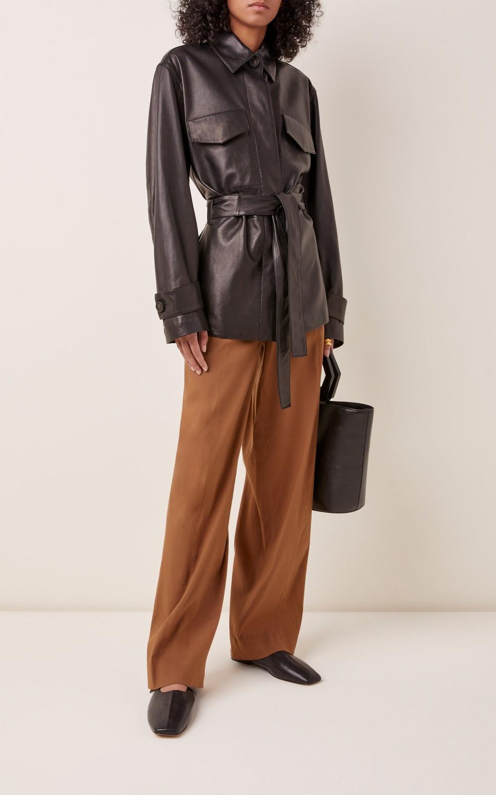 Belted Leather Jacket By Vince Moda Operandi Jackets Vince Fashion Leather Jacket [ png ]