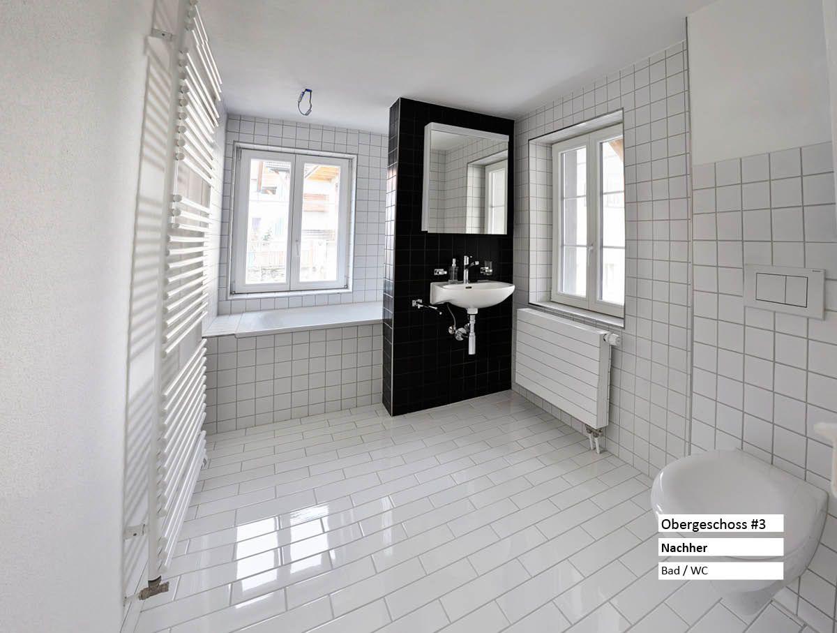Neues Bad bei Sanierung von 100 jährigem Gebäude ...