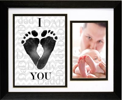 I Heart Daddy Frame For Footprints Fathers Day Gift Ideas Baby