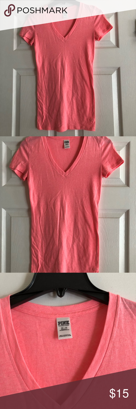 Pink Coral Colored Tee Shirt Size Extra Small My Posh Picks