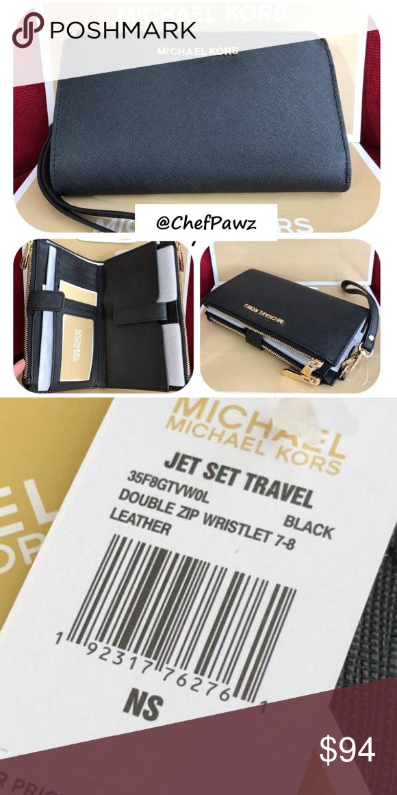 4eec462a26b9 Phone Cases · NWT Michael Kors Saffiano Jet Set Travel Dbl Zip 100%  Authentic MICHAEL Michael Kors jet