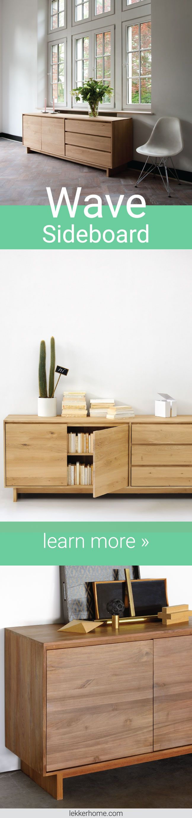 Wave Sideboard Living Room Storage Solid Wood And Drawers # Meuble Tv Wave