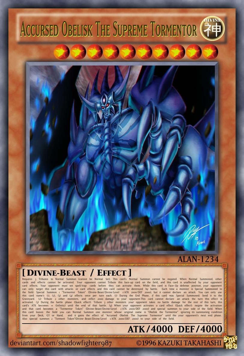This Is A Retrain Version Of Obelisk The Tormentor Custom Yugioh Cards Obelisk The Tormentor Pokemon Dragon