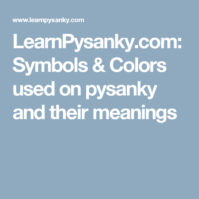 Learnpysanky Symbols Colors Used On Pysanky And Their