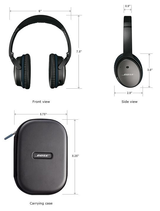3bba4e65c65 QC25 headphones dimensions for Kasper Noise Cancelling Headphones, Over Ear  Headphones, Acoustic, Cool
