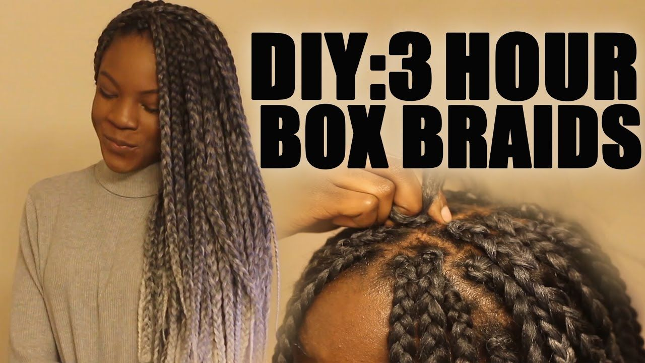 How To Do Box Braids Tutorial For Beginners Fast Crochet Method Quick Box Braids Tutorial Quick Braided Hairstyles Box Braids