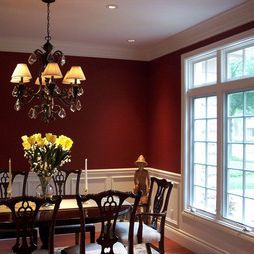 Traditional Dining Room Red Paint Design Pictures Remodel Decor And Ideas Page 2 Red Dining Room Dining Room Design Red Dining Room Colour Schemes