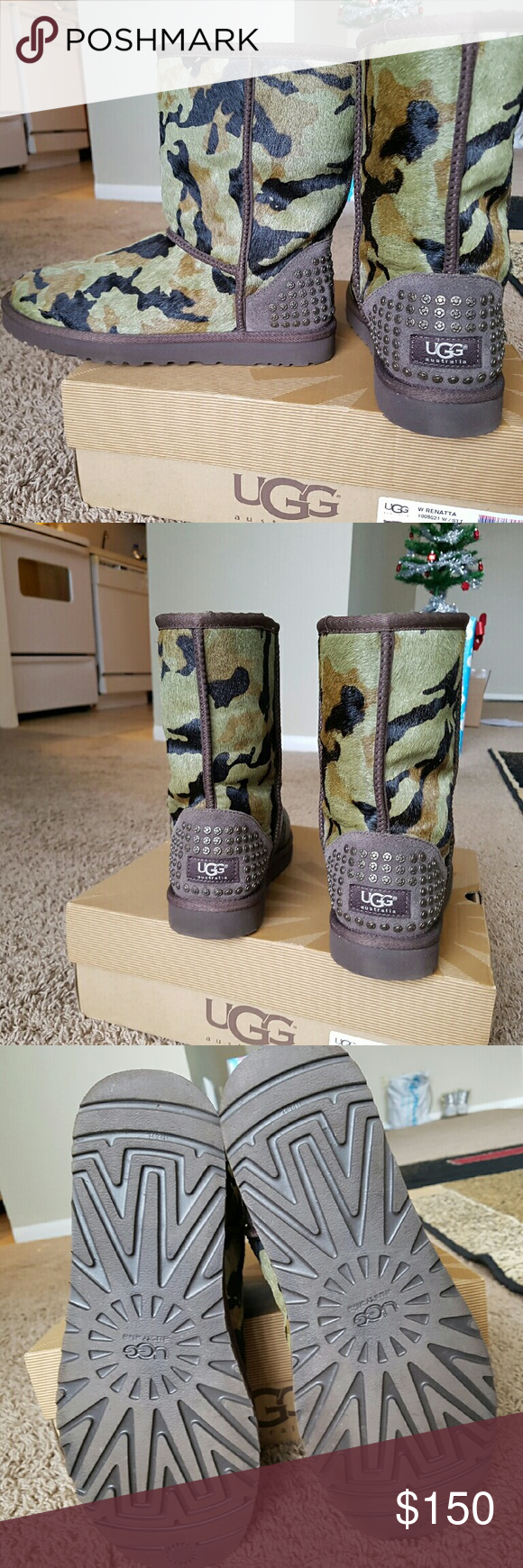 209ca2fe721 Authentic Women's Green Camo UGG boots Green army fatigue inspired ...
