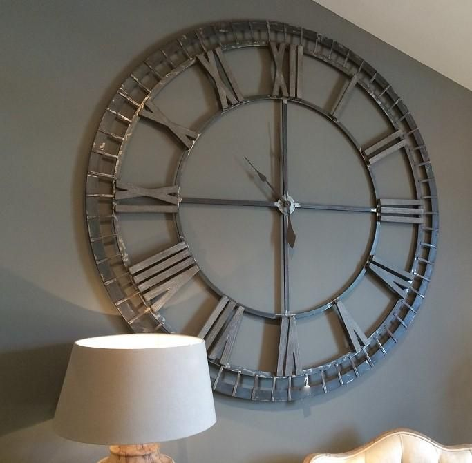 Round 5ft Iron Skeleton Wall Clock Clock Wall Decor