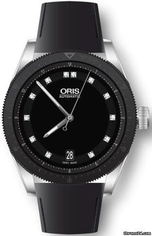 Oris Artix GT Date Lady 73376714494LS $1,575 #Oris #watch #watches #luxury #style #chronograph steel case with rubber bracelet and automatic movement