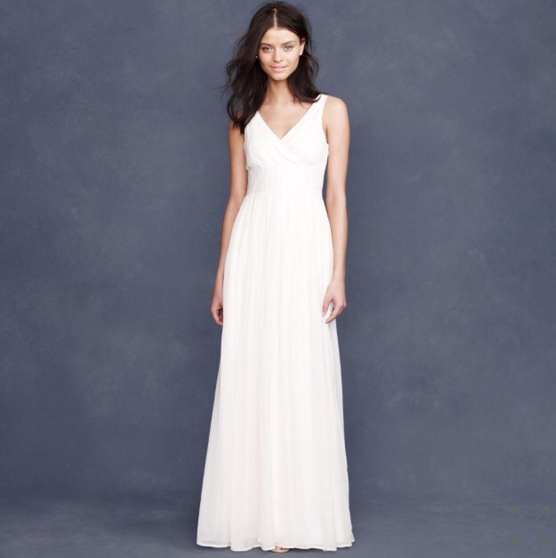 J. Crew Sophia Silk Gown, $80 Size: 8   New (Un-Altered) Wedding ...