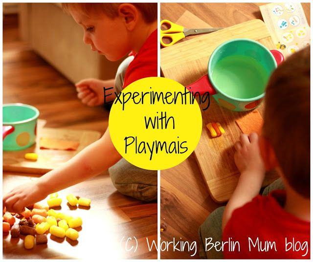 Experimenting with PlayMais. Crafting with kids