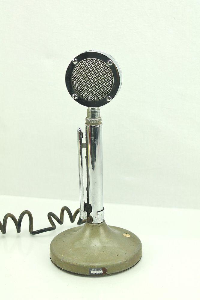 Astatic D 104 Vintage Chrome Lollipop Ham Radio Stand Microphone Mic Untested Ham Radio Ham Radio Equipment Radio
