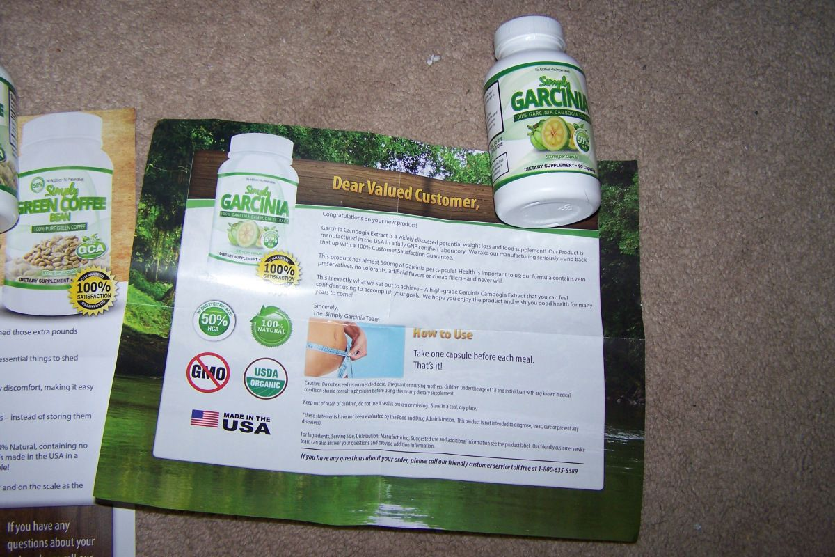 simply garcinia and simply green coffee bean cleanse reviews