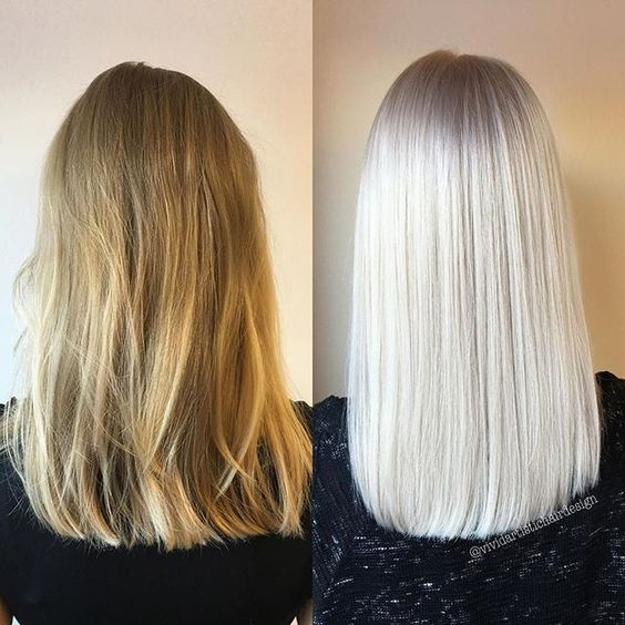 Platinum white blonde balayage hair beauty pinterest - Balayage blond blanc ...