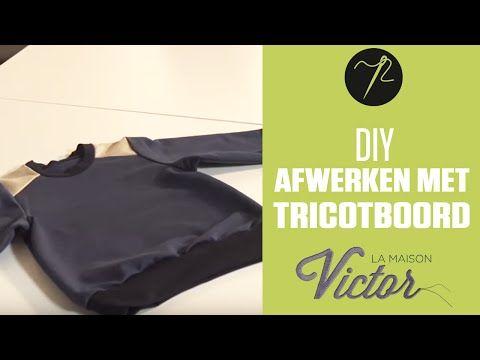 La Maison Victor NL | Randen afwerken met tricotboord: video tutorial