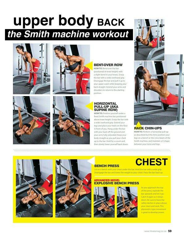 31d1d9b8d4b Upper Body -1 Smith Machine Workout