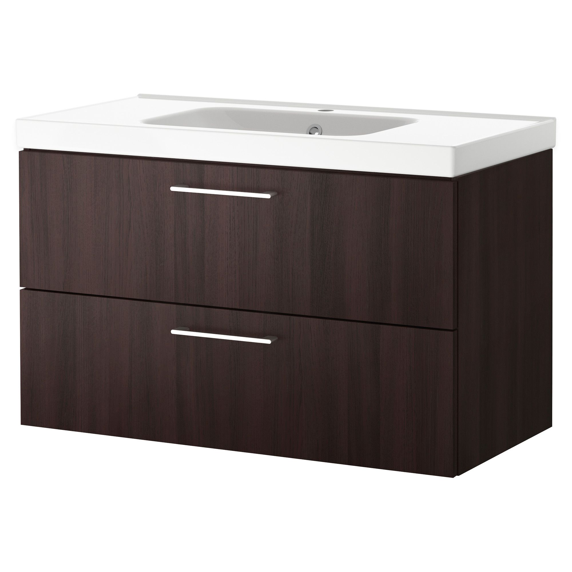 godmorgon odensvik meuble pour lavabo 2 tiroirs brun. Black Bedroom Furniture Sets. Home Design Ideas