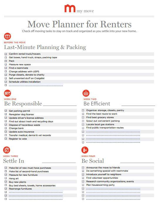 Moving Planners For An Organized Move My Move Moving Planner Moving Out Organizing For A Move