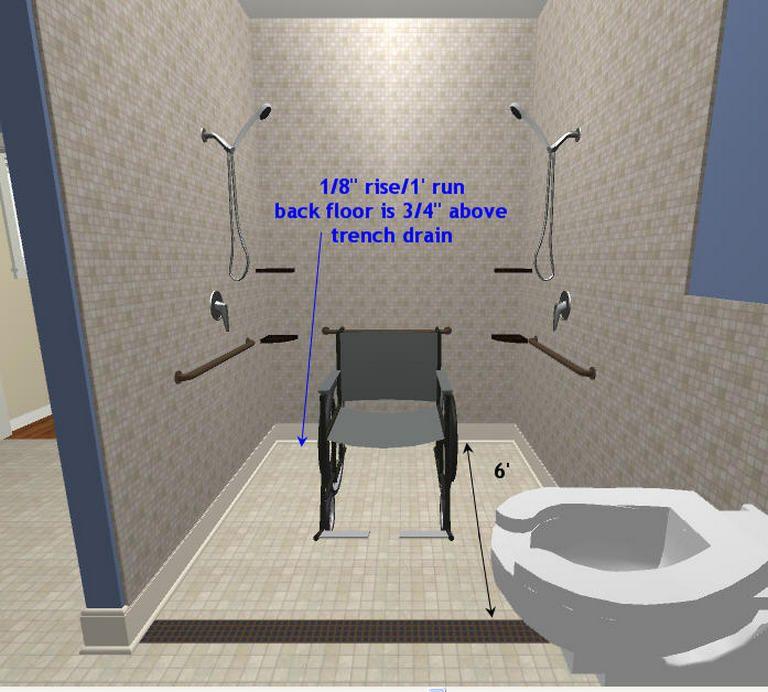 90+ Renovations Wheelchair Accessible Shower Design Photos