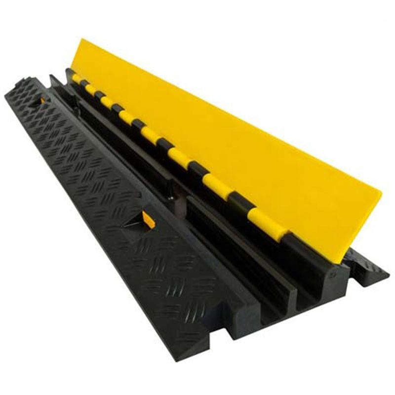 Rubber Cable Ramp Is Perfect For Continuous Heavy Outdoor Cable Protection In Parking Lots Job Sites Construction Areas In Cable Protector Cable Cover Cable